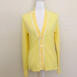 Vintage 70's Bright Yellow Cardigan